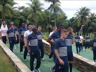 Jogadores da seleção francesa terão o primeiro dia de folga desde que chegaram ao Brasil