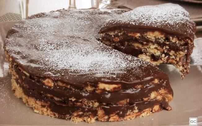 Receita de torta de palha italiana fácil