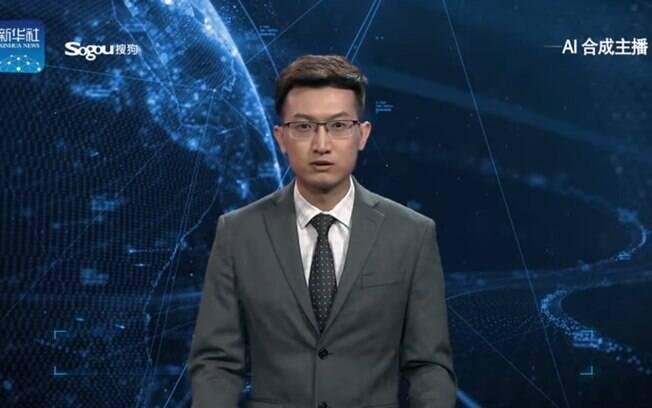 Âncora Inglês de inteligência artificial da agência de notícias chinesa Xinhua News Agency