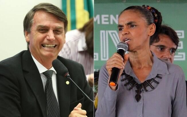 Bolsonaro e Marina estão empatados tecnicamente na disputa presidencial