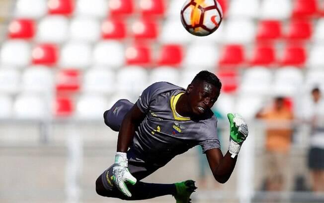 Moises Ramírez, goleiro do Equador, é um dos destaques do torneio