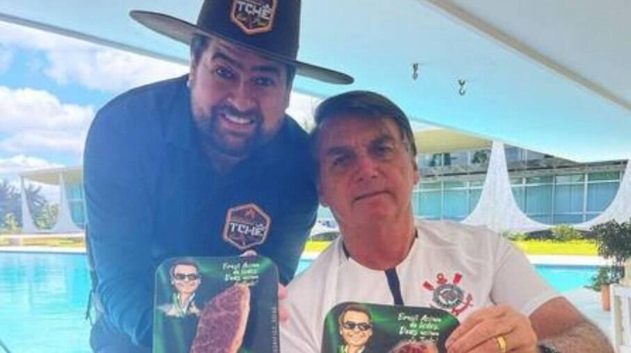 Carne com embalagem personalizada para o churrasco