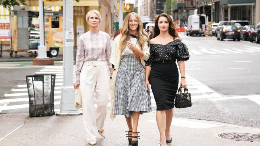 Miranda, Carrie e Charlotte no reboot de 'Sex and the City'