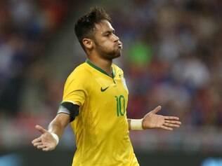 Amistoso da Selecao Brasileira de Futebol contra o Japao no  Singapore National Stadium . O Brasil vence em 4 x O todos os gols do atacante Neymar .  Foto: Rafael Ribeiro / CBF