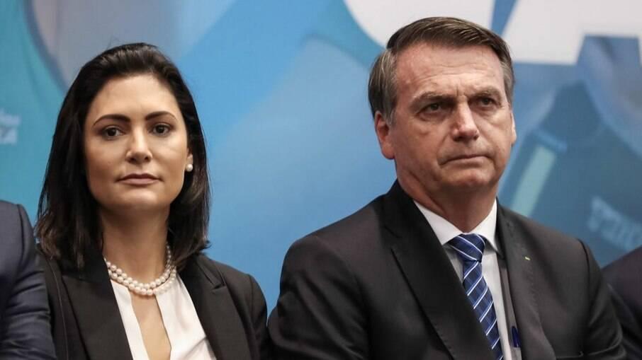 Bolsonaro e esposa, Michelle