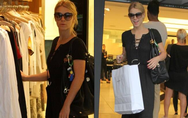 Carolina Dieckmann passeia no shopping