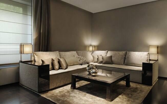 585f6fba2 A mesma linha de móveis encontrada nos hotéis Armani poderão ser vistas na  primeira loja Armani