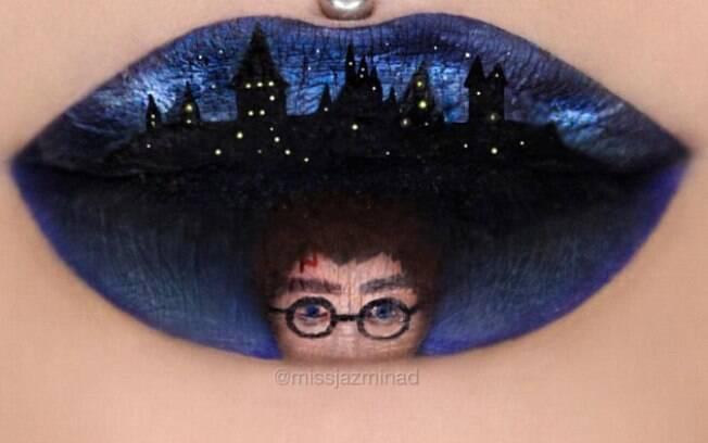 Harry Potter também tem espaço nos lábios da artista