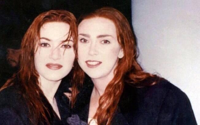 Kate Winslet e sua Sarah Franzl em Titanic