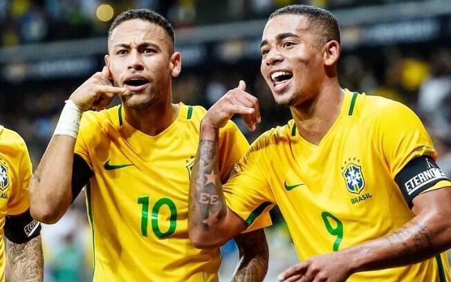 Neymar e Gabriel Jesus estão entre os 100 atletas mais famosos do mundo