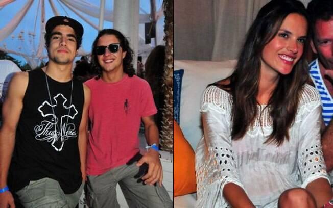 Caio Castro e Guilherme Boury, e Alessandra Ambrosio