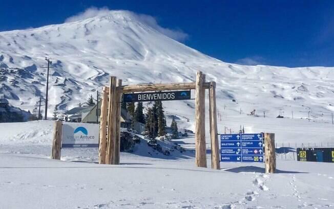 Antuco é um dos lugares para esquiar no Chile indicado para quem está começando ou quer fugir da muvuca