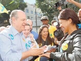 Páreo. Em encontro com motociclistas, Pimenta da Veiga comemorou empate técnico com petista