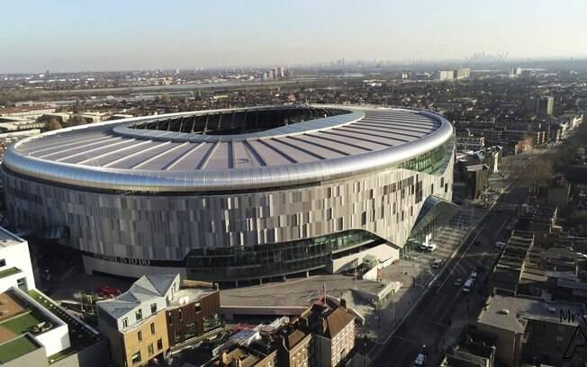 Novo estádio do Tottenham em Londres, na Inglaterra