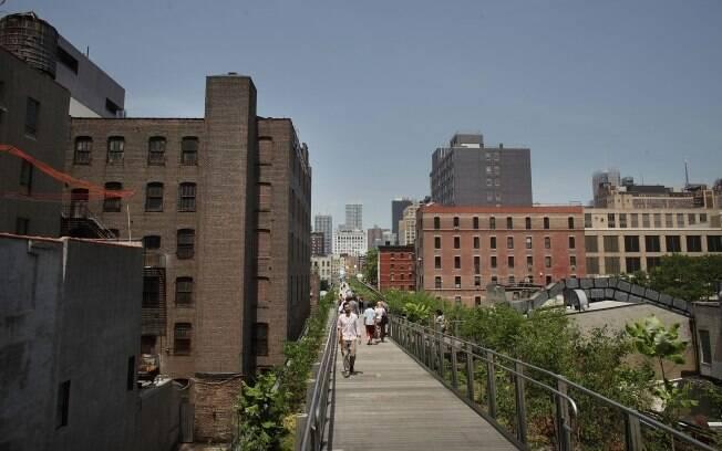 O High Line Park surgiu em uma ferrovia suspensa desativada, no sul de Manhattan