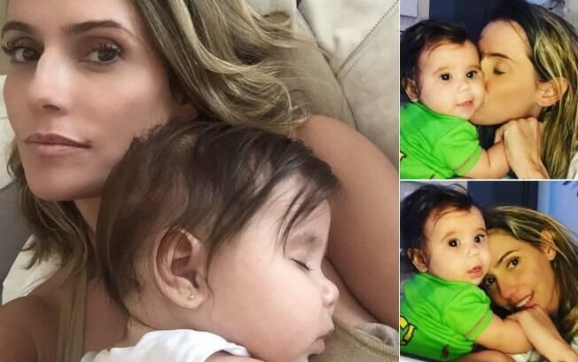 Deborah Secco costuma postar fotos com a filha Maria Flor nas redes sociais