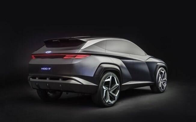 Assim como o protótipo, o novo Hyundai Tucson deverá ter linhas arrojadas, inclusive na parte traseira