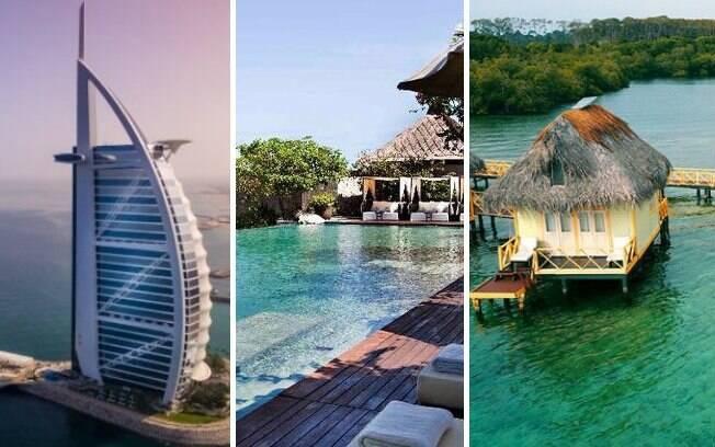 Confira a seleção com cinco hotéis de luxo espalhados ao redor do mundo; diárias dos locais vão desde R$ 1 mil até R$ 9 mil