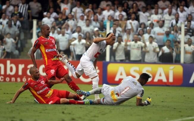 Ricardo Oliveira garantiu o título do Santos