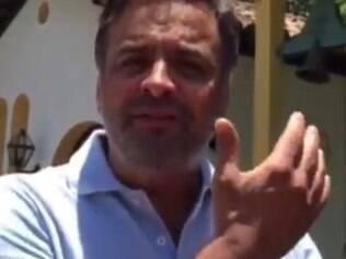 Em vídeo, no Facebook, Aécio aparou de barba e manteve tom agressivo em posição ao governo Dilma