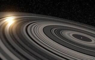 Saturno ficará visível a olho nu hoje à noite