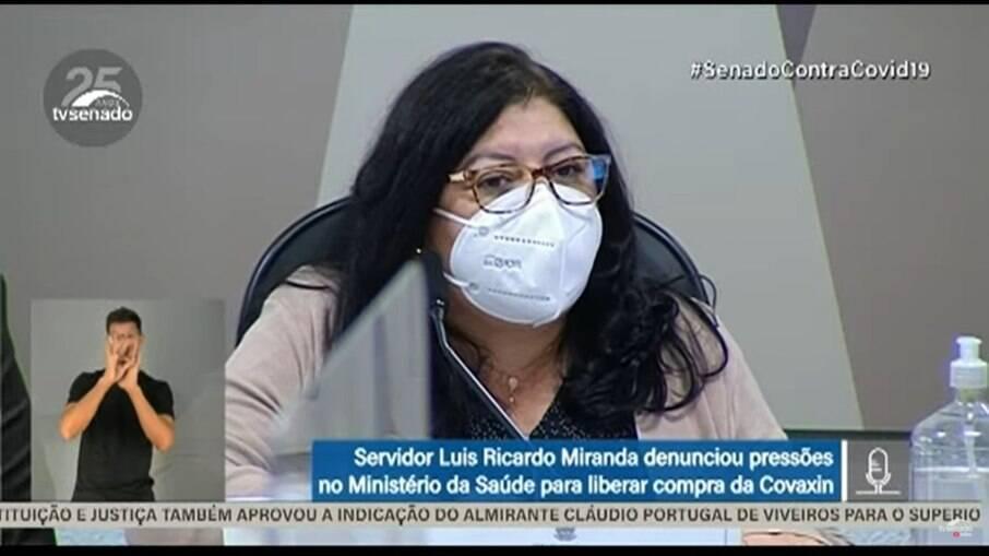 Servidora do Ministério da Saúde, Regina Célia, depõe à CPI da Covid-19, nesta terça-feira (6)