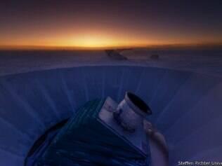 Sinais foram encontrados em análises do céu feitas a partir de telescópio no Polo Sul