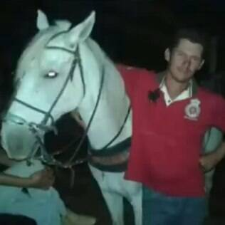 Wagner e seu cavalo Sereno