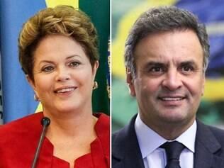 Dilma e Aécio apareceram tecnicamente empatados nas pesquisas Ibope e Datafolha