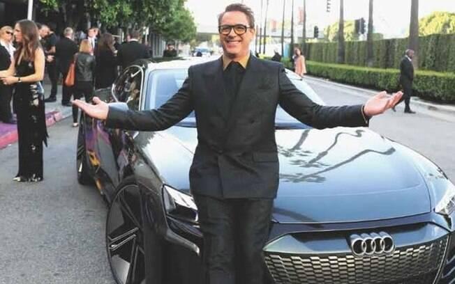 A paixão de Robert Downey Jr por carros rendeu um contrato de patrocínio com a Audi