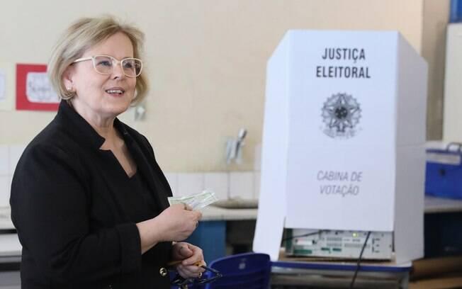 Presidente do TSE, ministra Rosa Weber durante votação no segundo turno das eleições de 2018