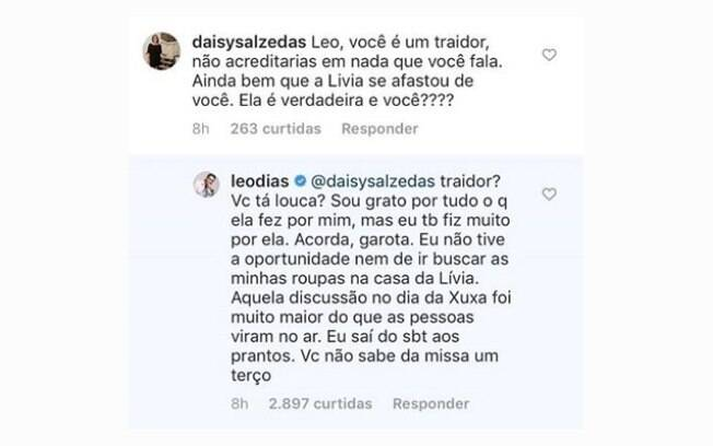 Léo Dias rebate seguidora