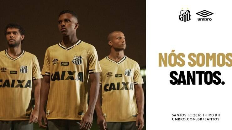 Umbro lança terceira camisa do Santos em homenagem ao BiMundial - Futebol -  iG 15fedc9b32221