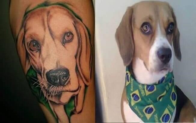Tatuagem do filho da Zilda Santos