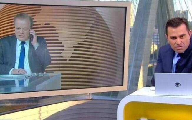 Rodrigo Bocardi e Chico Pinheiro conversam por telefone no