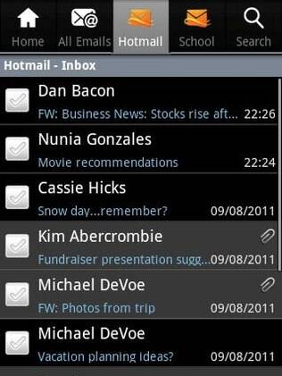 Aplicativo do Hotmail para Android