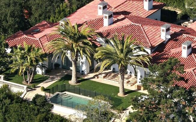 A casa em que Victoria e David Beckham moram em Beverly Hills, Los Angeles: R$ 35 milhões em 2007
