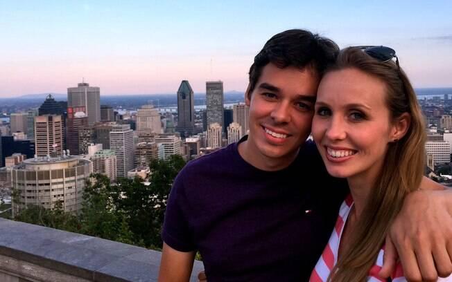 Fernando e Gisella no mirando do Parque Mont Royal