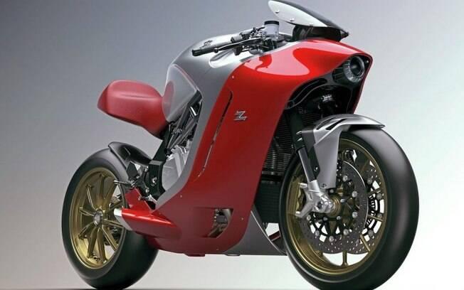 A MV Agusta F4Z é uma releitura da clássica esportiva F4, feita pelo estúdio italiano Zagato.