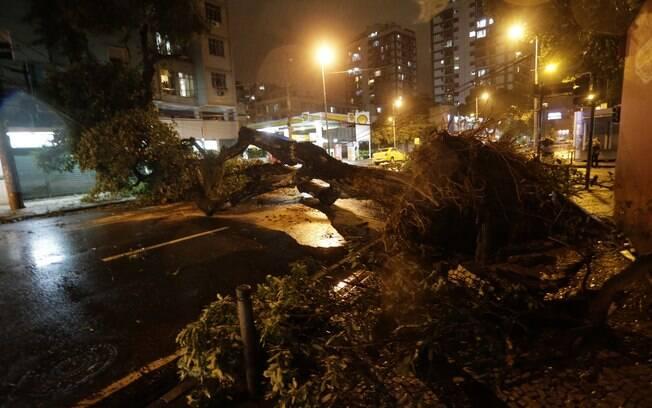 Chuva deste domingo causou diversos estragos na cidade do Rio
