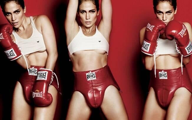 Jennifer Lopez de boxeadora disse à publicação que pode dar uns socos