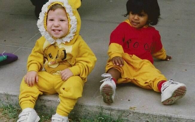 Matt e Laura na infância