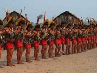 Ritual indígena voltado para