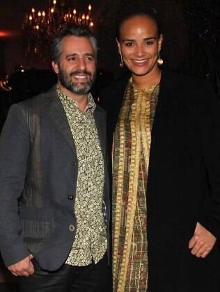 Luciana Mello e o marido