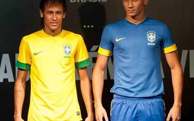 Neymar e Ganso foram os modelos para o  lançamento do uniforme da seleção brasileira para  2012