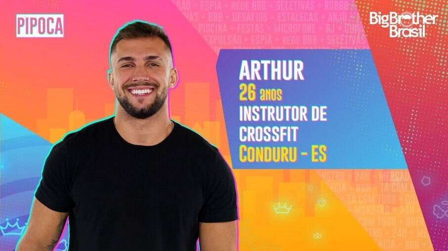 Arthur, instrutor de crossfit, participante do BBB21