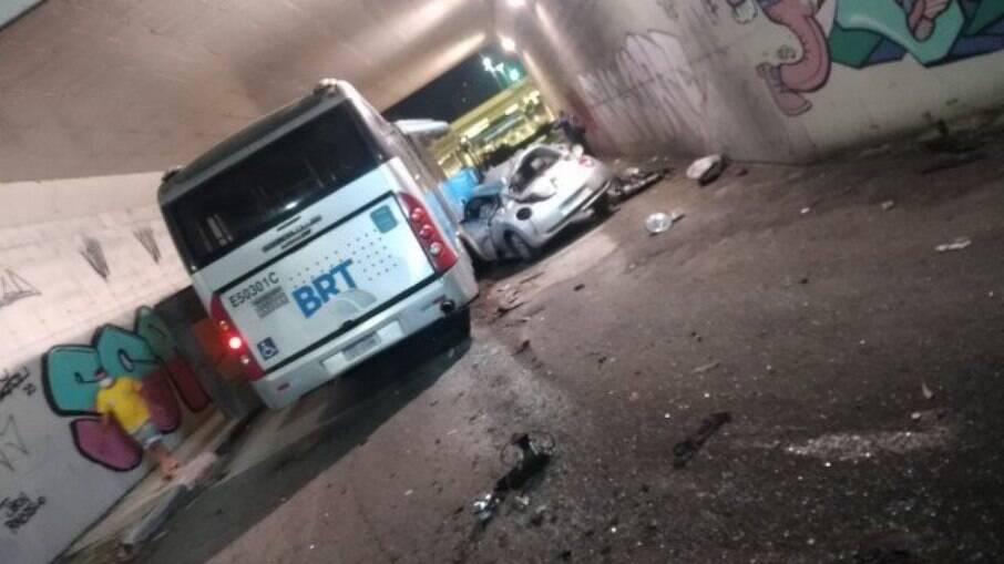 Acidente no BTR; vítimas foram encaminhadas para o hospital Lourenço Jorge