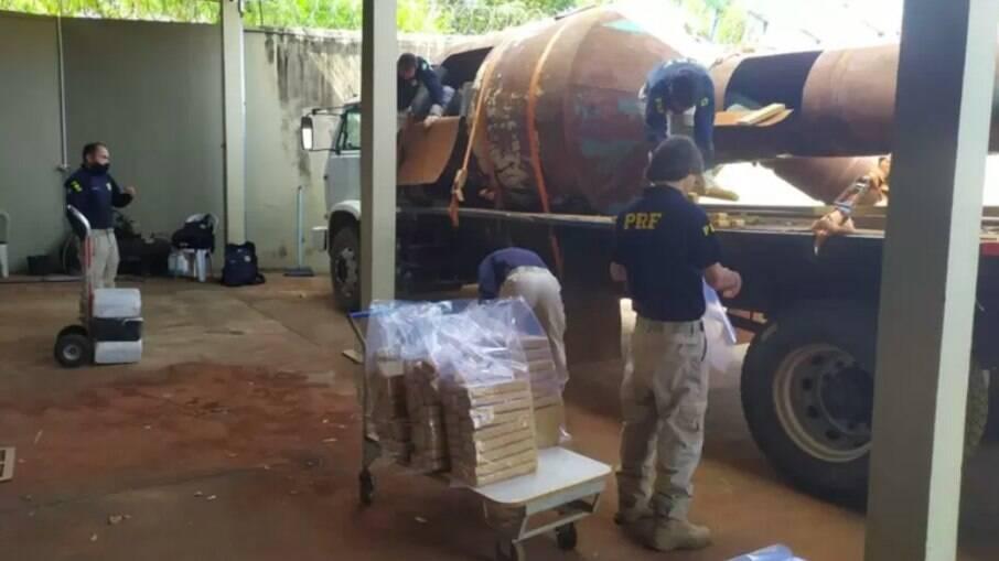Polícia Rodoviária Federal apreende 5 toneladas de maconha em Minas Gerais