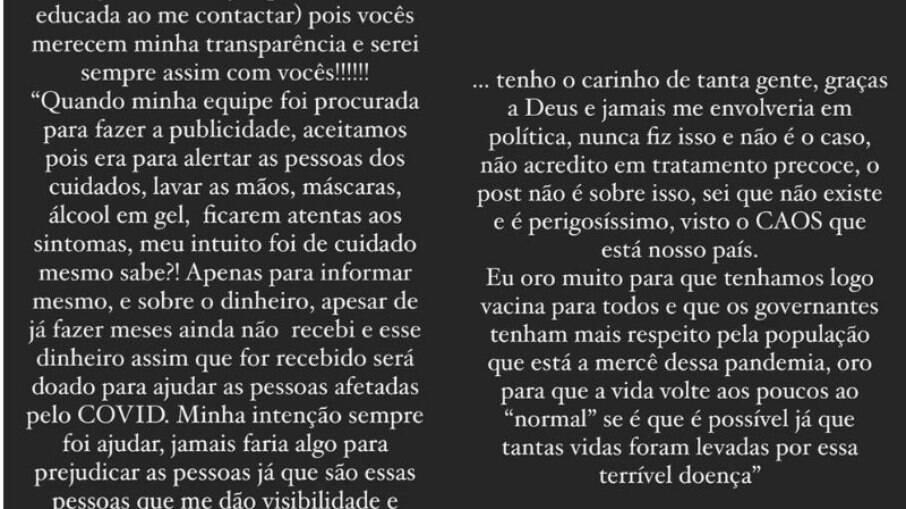 Flávia Viana se justifica sobre publicidade do tratamento precoce contra a covid-19