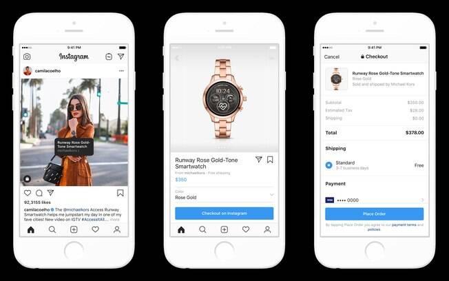 O mercado do Instagram se abre para os influenciadores digitais e seus seguidores. Primeiro, o produto à venda é marcado pelo dono do post; ao clicar no produto, você será direcionado diretamente ao